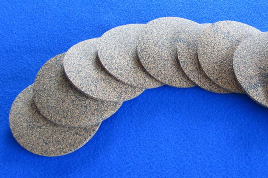 Rubber Bonded Cork Discs